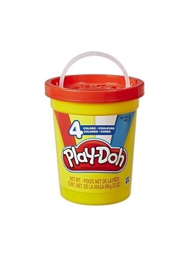 Playdoh Playdoh Süper Kova 4'lü Hamur Klasik Renkler Beyaz
